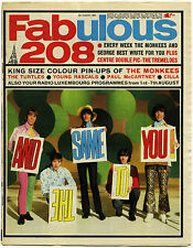 FABULOUS 208 Magazine 5/8/1967 Paul McCartney Turtles Young Rascals Tremeloes