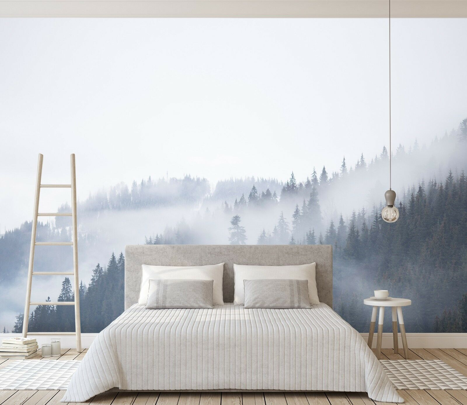 3D Fog Sky Forest 45 Wall Paper Wall Print Decal Wall Deco Indoor Wall Murals