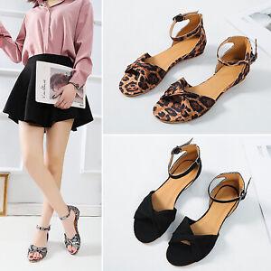 Women-Flat-Platform-Peep-Toe-Sandals-Espadrilles-Summer-Ankle-Strap-Beach-Shoes