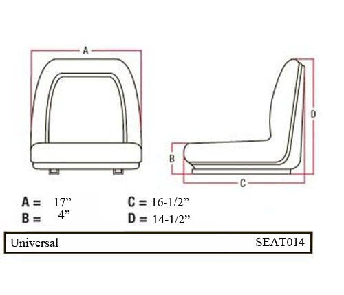 """New Universal 17/"""" Replacement Seat Cushion Uncut"""