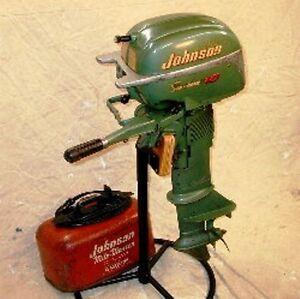 Vintage 1953 johnson 10 hp outboard motor ebay for Vintage johnson outboard motor parts