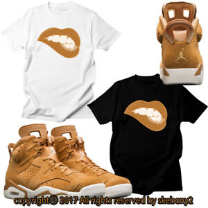 c3cb29dd4f84 NEW CUSTOM T SHIRT NIKE Air Jordan 6 WHEAT SHOES matching TEE JD 6-3 ...