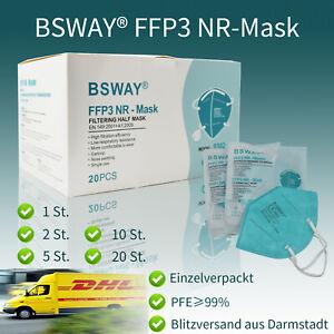1/2/5/10/20X FFP3 Mundschutz ohne Ventil Atemschutzmasken EU Zertifiziert