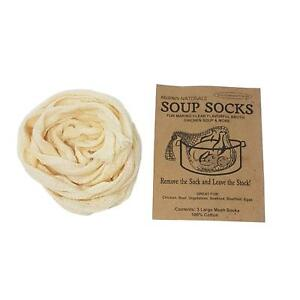 12-X-SOUP-SOCKS-STOCK-FOOD-BROTH-CASSEROLE-STEW-POT-KITCHEN-STRAINER-100-COTTON