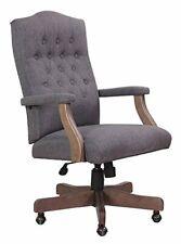 Nors B905dwsg Boss Executive Slate Grey Commercial Grade Linen Chair With Drift