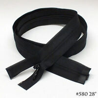 12 Quality Invisible Zipper, One Way Separable, 28 Black 580, Rare Item