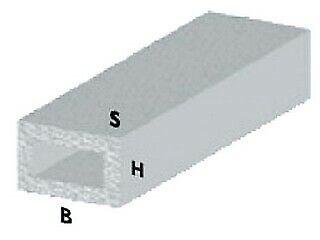 profilo rettangolare cm 200 h argento 30x15x1 mm alluminio asta barra