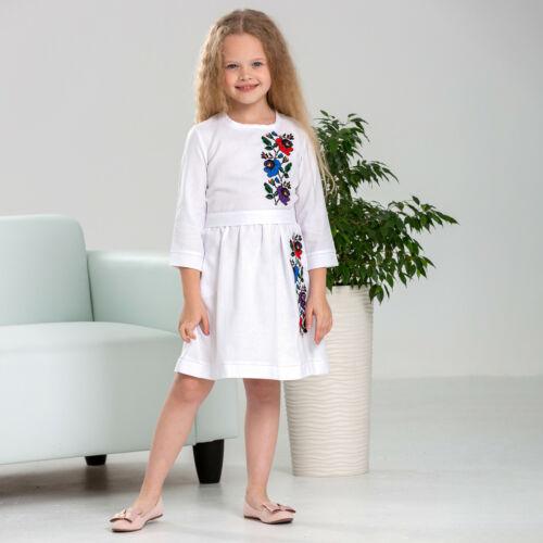 for girls 4-12 years Elegant Ukrainian embroidered dress Malvochka