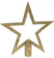 Christmas Tree Topper Star Design Glitter Finish GOLD Xmas Festive Decoration