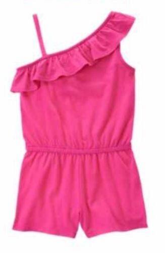 NWT Gymboree Girls Hop N Roll Dark Pink One Shoulder Romper Size 4 /& 6