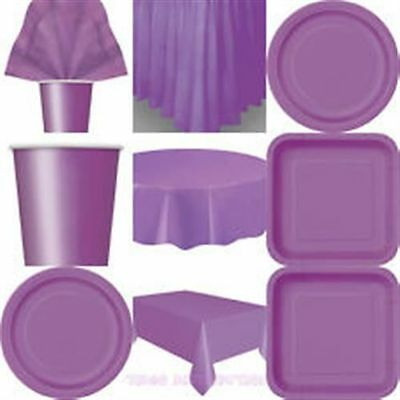 """Paper Plates Square Round 7""""/ 9"""" Wedding Birthday Tableware Supplies 20 Colours"""