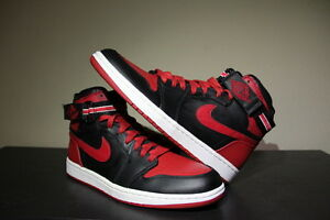 c1571cd7970e60 2008   Rare   DS Men s Nike Retro Air Jordan 1 High Strap BRED 10.5 ...