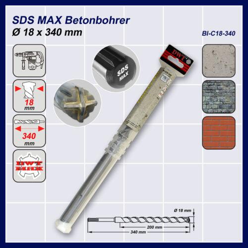 SDS Max Betonbohrer Ø 18 x 340-540-670-920 mm zur Auswahl