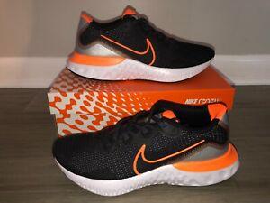 NEW-Nike-Men-039-s-Size-10-Renew-Run-Black-Total-Orange-Running-Shoes-CK6357-001