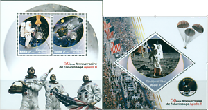 Apollo-11-50-Anniversary-Moon-Exploration-NASA-Space-MNH-Tchad-stamps-set