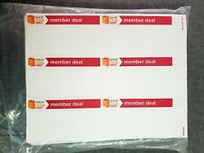 New Listingred Members Deal Label Retail Store Price Stickers Tags Labels 50 Sheets