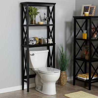 Over The Toilet Storage Shelf 2 Shelves Bathroom Wood ...