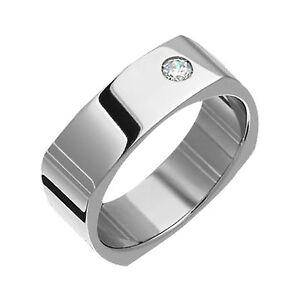 7mm-Titanium-Round-Brilliant-Diamond-Ring-Wedding-Band-Polished-Size-4-to-14