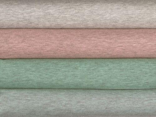Baumwollmischung grün-grau meliert 150cm Leichter Jersey
