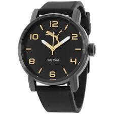Puma Ultrasize Black Dial Silicone Strap Men's Watch PU104141008