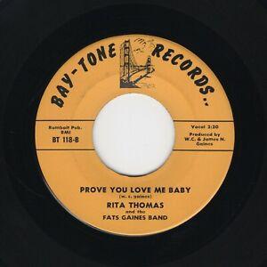 Bay Area Fem R&B/Soul Movers RITA THOMAS Prove You Love Me Baby BAY-TONE M- HEAR