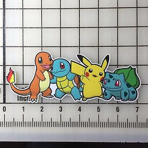 Pokemon-Charmander-Squirtle-Pikachu-Bulbasaur-7-034-Wide-VInyl-Decal-Sticker-BOGO