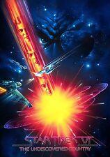 Framed Print - Star Trek VI The Undiscovered Country Movie Poster (Enterprise)