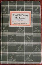 Rudolf G. Binding, Der Opfergang, Novelle