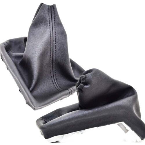 HANDBRAKE /& GEAR SHIFT BOOT GAITER BLACK LEATHER FOR VAUXHALL OPEL ASTRA H P57