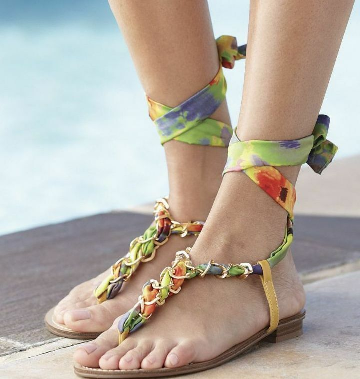 Midnight Velvet Braided Ankle size Wrap Sandal NEW NIB size Ankle 6M e5781d