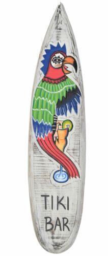 Décoration Planche de surf 100 cm Tiki bar Perroquet Planche De Surf Loro Hawaii Bar Palmiers