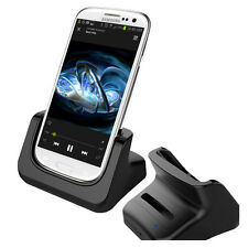 For Samsung Galaxy S III: Cradle Docking Station & 2nd Battery Charger Black