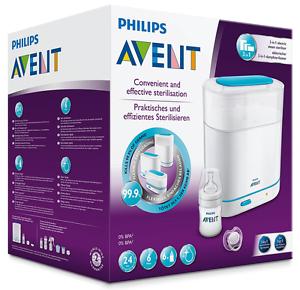 Philips-Avent-SCF285-02-elektrischer-3-in-1-Sterilisator-inklusiv-1x-Flasche
