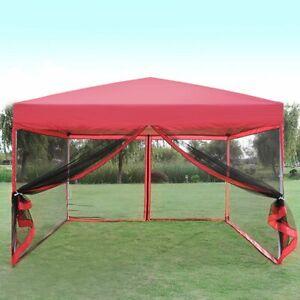 reputable site 8431f d5c23 Details about VIVOHOME 8'x8' Pop Up Canopy Gazebo Car Shelter Party Tent  Mesh Net Patio Tan