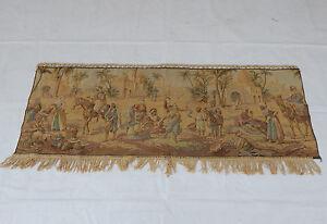 Vintage French Arabian Dancing Scene Tapestry 48x133cm T738