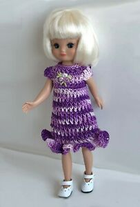 Clothes-for-Tiny-Betsy-McCall-8-034-Tonner-Doll-Handmade-USA-Dress-Lot-TB-11-Purple