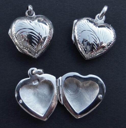Medaillon Herz zum öffnen Anhänger Amulett Echt Silber gestempelt Schutzamulett