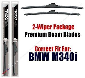 Wipers 2-Pack Premium Beam Wiper Blades 19240//190 fit 2007-2009 BMW 335i