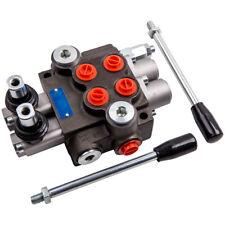 2 Spool 11gpm Hydraulic Directional Control Valve Tractor Loader Joystick Adjust