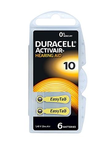 30 60 120 Hörgerätebatterien DURACELL Activair Typ Typ Typ 10 gelb  Mercury Free 0% Hg   Schön In Der Farbe  e87b56