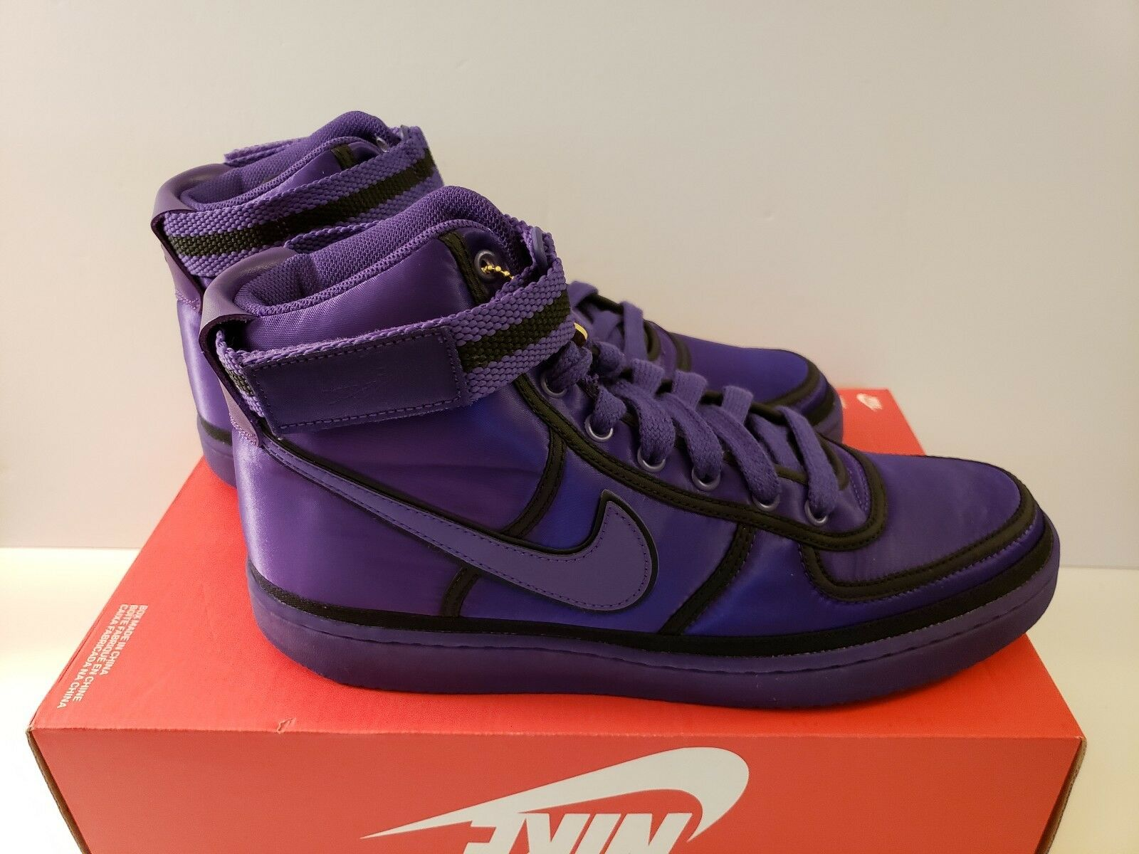 NIKE VANDAL HIGH SUPREME QS PRPL Size 10.5 AQ2176 500 COURT PURPLE