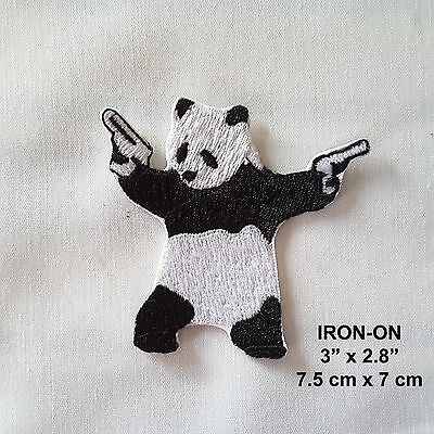 Kung Fu Panda Embroidered Iron-on Emblem Patch Cute Bear Cub Animal Applique