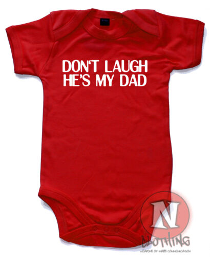 Naughtees Clothing Don/'T Lachen He/'s Mein Vater Lustiger Strampler Anzug Weste