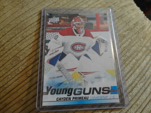 19-20 UD SERIES 2 YOUNG GUNS ROOKIE #454 CAYDEN PRIMEAU CANADIENS