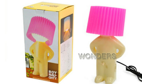 Details about  /Home Decoration Creative Lamp Naughty Boy Mr.P Little Shy Man Small Night Light