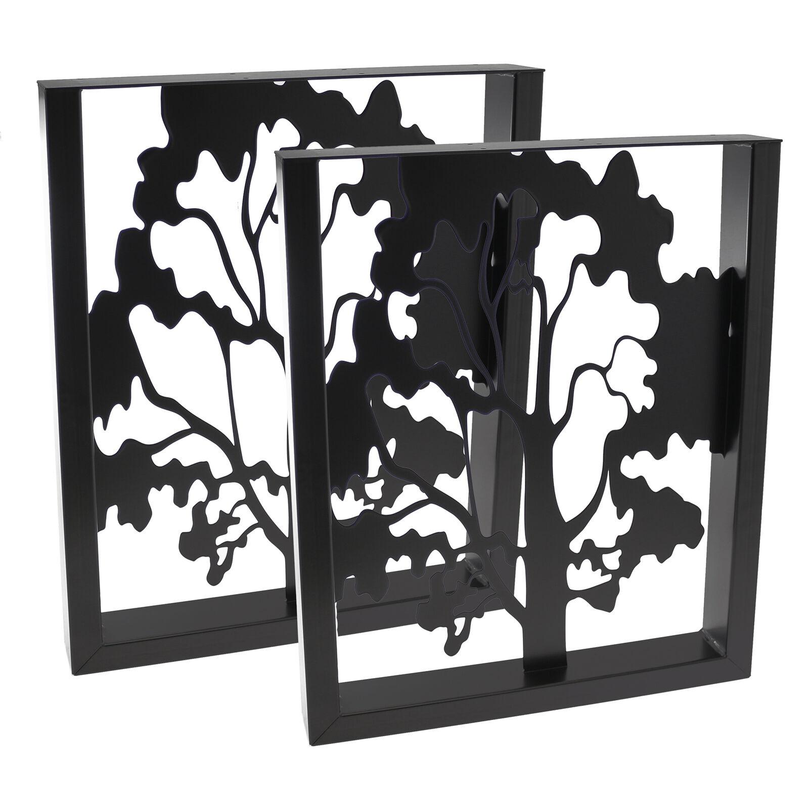 2x Tischbeine Tischgestell U Tisch Esstisch mit Baum Home Liebe Dekoration Deko