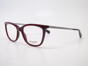 fc8e98a09267 New Authentic Coach HC 6124 5509 Solid Oxblood Eyeglasses 51mm Rx ...