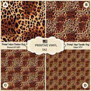 Oracal Adhesive Vinyl 570 Floral Leopard Pattern Printed Siser HTV