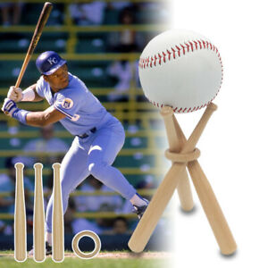 Mini-Wood-Baseball-Bat-Golf-Tennis-Ball-Display-Base-Stand-Bracket-Souvenir-Ball