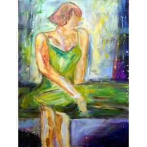 Abstract-Figurative-Woman-Portrait-Girl-Painting-Original-Art-48x36